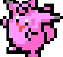 Pokemon 8-Bit Pixel Clefable 036 by slr06002