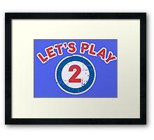 Let's Play 2 Framed Print