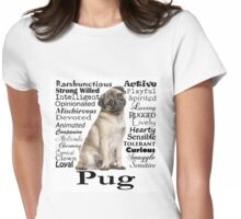 Pug Traits Womens Fitted T-Shirt