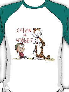 calvin and hobbes shoot on T-Shirt