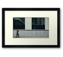 Pedestrians Please Levitate Framed Print