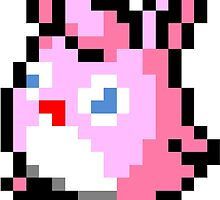 Pokemon 8-Bit Pixel Wigglytuff 040 by slr06002