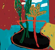 3 plants in a vase by Shylie Edwards