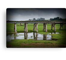 Orbost Trestle Bridge, East Gippsland Canvas Print