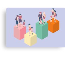 Isometric Infographic Family Types - LGBT included Canvas Print
