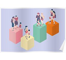Isometric Infographic Family Types - LGBT included Poster