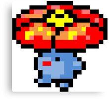 Pokemon 8-Bit Pixel Vileplume 045 Canvas Print