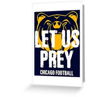 Let Us Prey Chicago Greeting Card