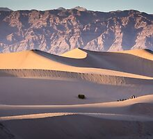 Watching the Sunset at Mesquite Sand Dunes - Death Valley by Robert Kelch, M.D.