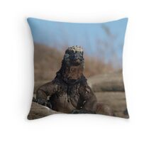 Marine Iguana at Galapagos Islands Throw Pillow