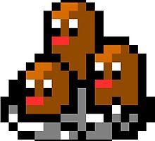 Pokemon 8-Bit Pixel Dugtrio 051 by slr06002