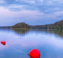 Red sunset buoys Sticker