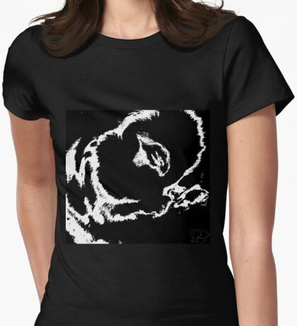 Praying bunny Womens Fitted T-Shirt