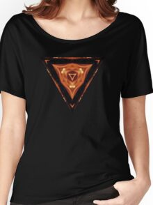 Triangle Target - Fire Women's Relaxed Fit T-Shirt