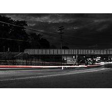 City car motion blur Photographic Print