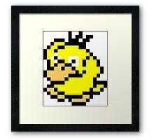 Pokemon 8-Bit Pixel Psyduck 054 Framed Print