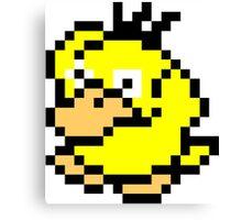 Pokemon 8-Bit Pixel Psyduck 054 Canvas Print