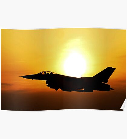 Flying Military Jet, HD Photograph Poster
