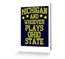 Michigan #1 Greeting Card