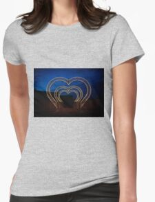 illumination of heart shape in park Womens Fitted T-Shirt