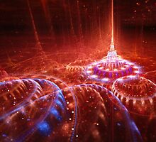 Red alien city by MartinCapek
