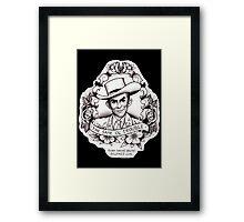 Hank Williams porrait Framed Print