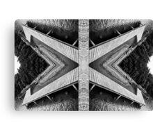 Zigzag Pier Illusion B Canvas Print