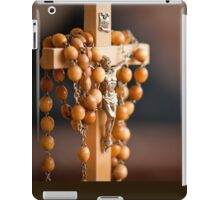 Jesus figurine and rosary  iPad Case/Skin