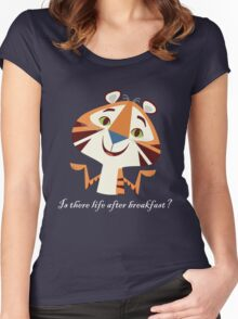 Is There Life After Breakfast? Women's Fitted Scoop T-Shirt