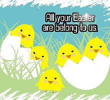 Evil cute hatching egg Easter chicks by BigMRanch