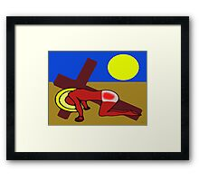 THE ROAD TO CALVARY Framed Print