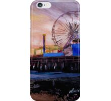 Santa Monica Pier at Sunset iPhone Case/Skin