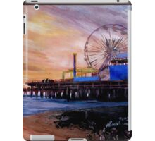 Santa Monica Pier at Sunset iPad Case/Skin