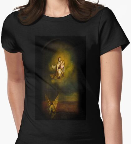 Heavenly Madonna and Child Womens Fitted T-Shirt