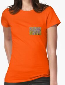 Blue Violet World Of Flowers Womens Fitted T-Shirt