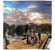Boys On The Dock Poster