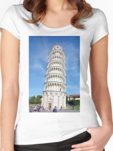 Leaning Tower of Pisa Women's Fitted Scoop T-Shirt