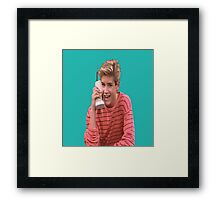 Zack Morris Saved By the Bell 90's Design Framed Print
