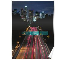 Los Angeles Sky Line Poster