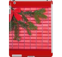 red christmas tree bow iPad Case/Skin