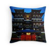 Buddha Tooth Relic Temple Throw Pillow