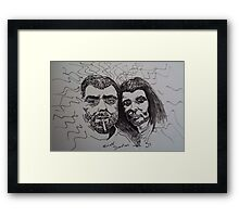 The Undead, to wed Framed Print
