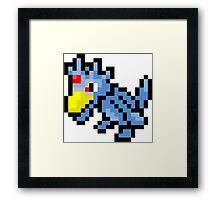 Pokemon 8-Bit Pixel Golduck 055 Framed Print