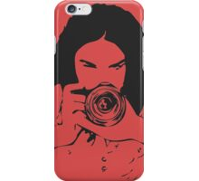 Girl photographer iPhone Case/Skin