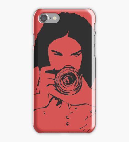 Girl photographer iPhone Case/Skin