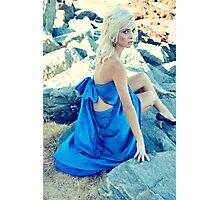 Blue Dress Photographic Print