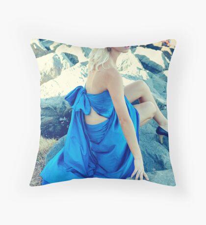 Blue Dress Throw Pillow