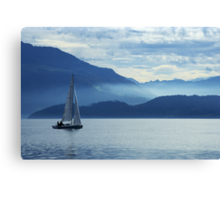 sailing on lake Zug, Switzerland Canvas Print