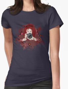 Girl photographer 2 Womens Fitted T-Shirt