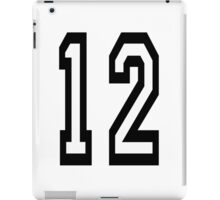 TEAM SPORTS, NUMBER 12, TWELVE, TWELFTH, Competition iPad Case/Skin